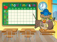 School timetable classroom theme 4