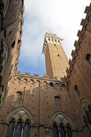 Torre del Mangia tower, Palazzo Pubblico, town hall, Siena, Tuscany, Italy, Europe
