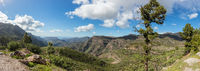 Landschaft Panorama mit Gebirge in Gran Canaria