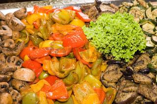 Mushroom pepper zucchini