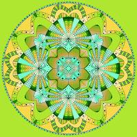 Colored ring mandala
