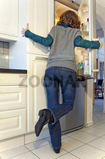 am Kühlschrank