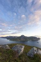 Evening mood, Flakstadsoeya, Lofoten, Norway