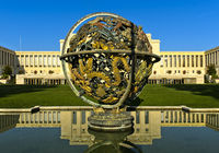 Celestial Sphere Woodrow Wilson Memorial, Palais des Nations, United Nations, Geneva, Switzerland