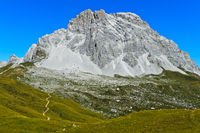 Peak Sulzfluh in the Rätikon range, St. Antönien, Prättigau, Graubünden, Grisons, Switzerland