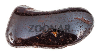 polished Hydrogoethite gemstone isolated