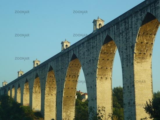 historic viaduct at Lisboa, Portugal, Europe