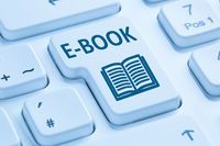 E-Book Ebook bestellen Buch im Internet Computer Tastatur blau