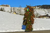 Ugly St Sylvester mummer or Wueschte Chlaus, Urnäsch Silvesterkläuse procession, Switzerland