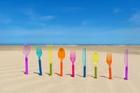 Silverware at the beach