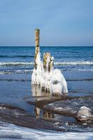 Winter an der Küste der Ostsee