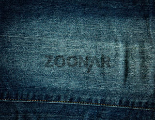 Stitched denim