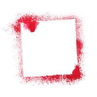 Red stenciled frame
