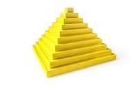 abstract golden pyramid