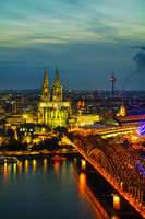 Cologne aerial overview