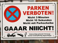 Sign parking prohibited