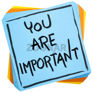 You are important reminder note