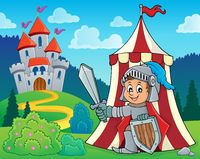 Knight by tent theme image 2