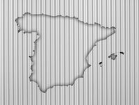 Karte von Spanien auf Wellblech - Map of Spain on corrugated iron