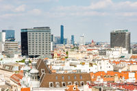 Aerial view over the cityscape of Vienna