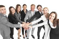 Business people joined hands