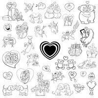 cartoon valentines collection