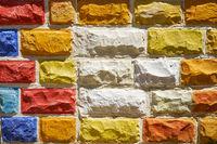 Multicolored brick wall. Malta