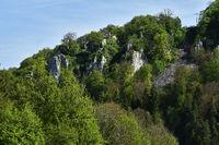 swabian alb; germany; castle; ruin Hohengundelfingen