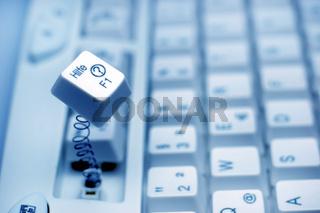 Computer-Tastatur Hilfetaste / computer keyboard hep key