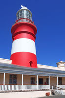 at Cape Agulhas in South Africa, the most southern point in Africa