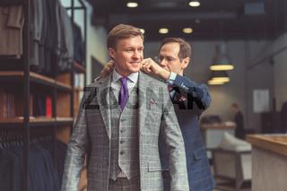 Businessman in shop