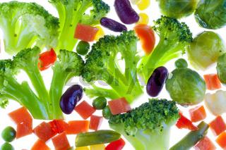 Slices of vegetables macro