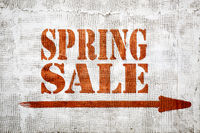 Spring sale -  graffiti on stucco wall