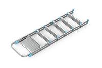 Folded aluminum ladder