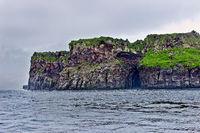 Rocky coast of Chirpoy Island, Russia