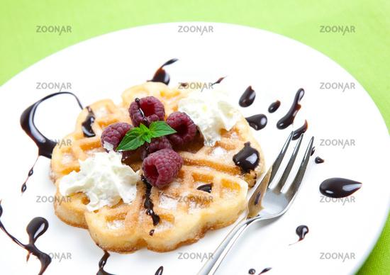 Waffeldessert/ dessert waffle