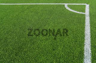 Fußballecke rechtwinklig