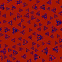 Creative print withornamental triangles