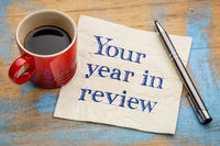 Your year in review napkin concept