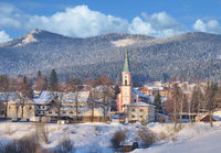 Village of Lohberg(Bavaria) in bavarian Forest,Bavaria,Germany