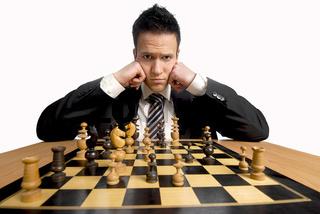 Die Geschäftswelt ist wie ein Schachspiel