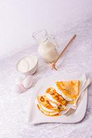 egg cake with vanillaquark