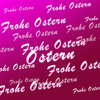Frohe Ostern rosa