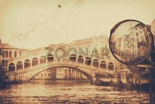 amazing Venice,Rialto bridge - artwork in painting style
