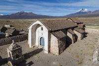 Small church Sajama National Park, Bolivia