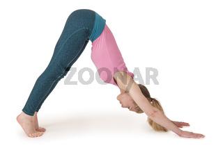 Yoga Frau rosa position_108