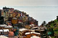 Colorful italian village of Manarola.