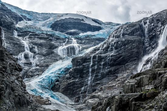 At the glacier in Norway
