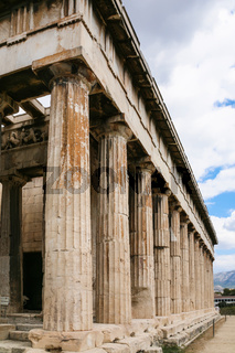 view of Temple of Hephaestus in Athens