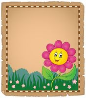 Parchment with happy flower 2